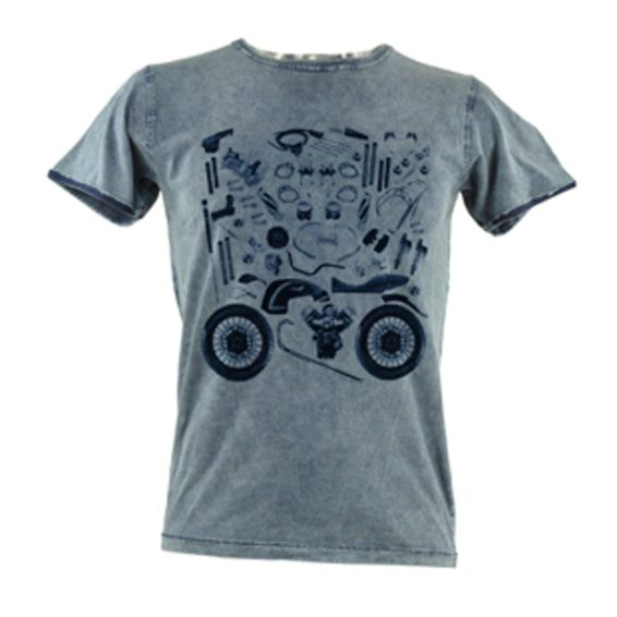 T Shirt Mens Custom Puzzle Blue S Cadre Cycle